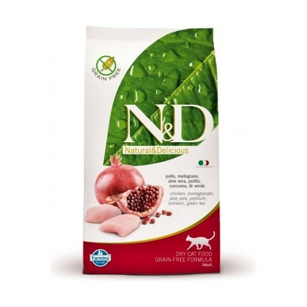 N-D Grain Free CAT Adult Chicken Pomegranate recenze