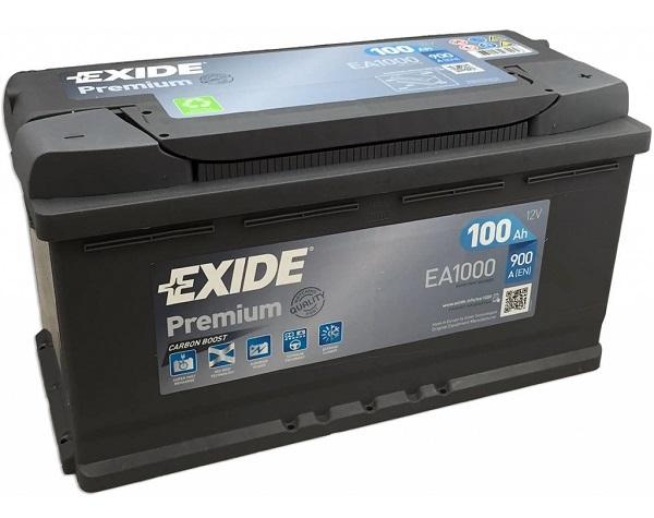 Exide Premium 12V 100Ah 900A EA1000 recenze
