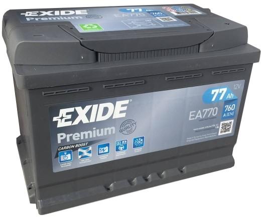 Exide Premium 12V 77Ah 760A EA770 recenze