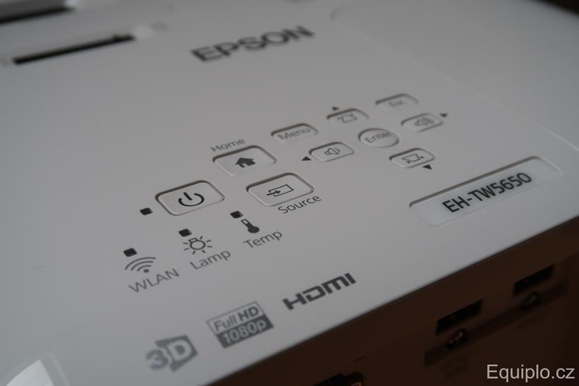Epson EH-TW5650 ovládanie